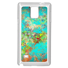 Abstract Garden in Aqua Samsung Galaxy Note 4 Case (White)