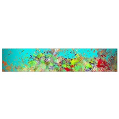 Abstract Garden In Aqua Flano Scarf (small)