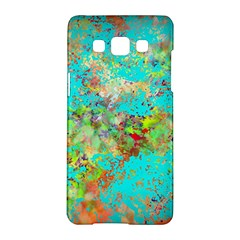 Abstract Garden in Aqua Samsung Galaxy A5 Hardshell Case