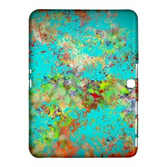 Abstract Garden in Aqua Samsung Galaxy Tab 4 (10.1 ) Hardshell Case