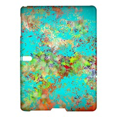 Abstract Garden In Aqua Samsung Galaxy Tab S (10 5 ) Hardshell Case