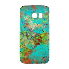 Abstract Garden in Aqua Galaxy S6 Edge
