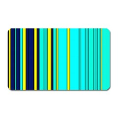 Hot Stripes Aqua Magnet (rectangular)