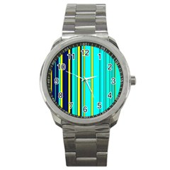 Hot Stripes Aqua Sport Metal Watches