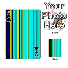 Hot Stripes Aqua Playing Cards 54 Designs