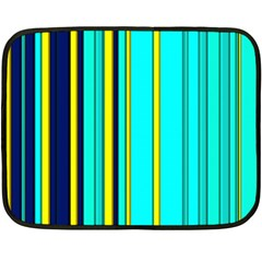 Hot Stripes Aqua Fleece Blanket (Mini)