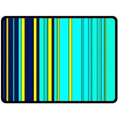 Hot Stripes Aqua Fleece Blanket (large)