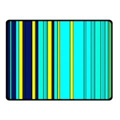 Hot Stripes Aqua Fleece Blanket (Small)