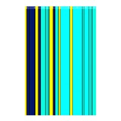 Hot Stripes Aqua Shower Curtain 48  x 72  (Small)