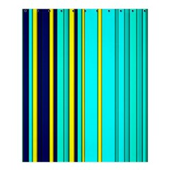 Hot Stripes Aqua Shower Curtain 60  x 72  (Medium)