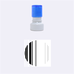Hot Stripes Aqua Rubber Round Stamps (Small)