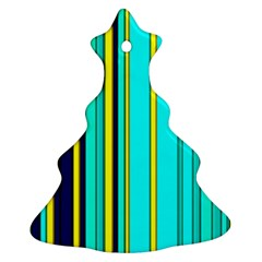 Hot Stripes Aqua Ornament (Christmas Tree)