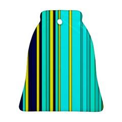 Hot Stripes Aqua Bell Ornament (2 Sides)