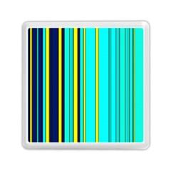 Hot Stripes Aqua Memory Card Reader (Square)