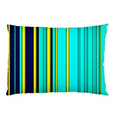 Hot Stripes Aqua Pillow Cases (Two Sides)