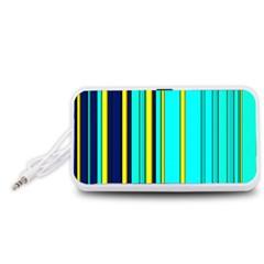 Hot Stripes Aqua Portable Speaker (white)
