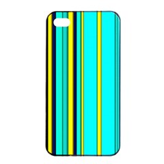 Hot Stripes Aqua Apple iPhone 4/4s Seamless Case (Black)
