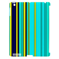 Hot Stripes Aqua Apple Ipad 3/4 Hardshell Case (compatible With Smart Cover)