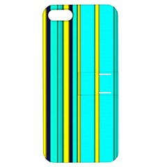 Hot Stripes Aqua Apple Iphone 5 Hardshell Case With Stand