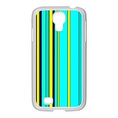 Hot Stripes Aqua Samsung Galaxy S4 I9500/ I9505 Case (white)
