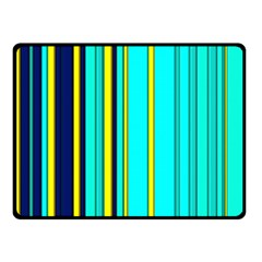 Hot Stripes Aqua Double Sided Fleece Blanket (small)