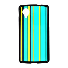 Hot Stripes Aqua Nexus 5 Case (Black)