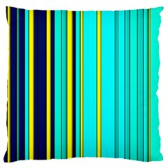 Hot Stripes Aqua Standard Flano Cushion Cases (Two Sides)