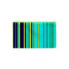 Hot Stripes Aqua Cosmetic Bag (xs)