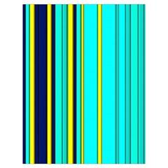 Hot Stripes Aqua Drawstring Bag (large)
