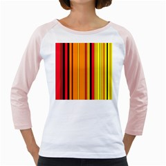 Hot Stripes Fire Girly Raglans