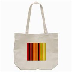 Hot Stripes Fire Tote Bag (Cream)