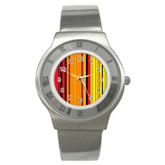 Hot Stripes Fire Stainless Steel Watches