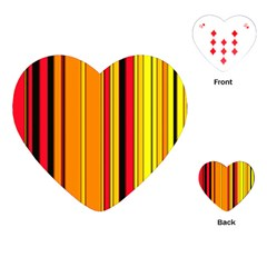 Hot Stripes Fire Playing Cards (Heart)
