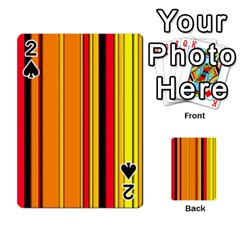 Hot Stripes Fire Playing Cards 54 Designs