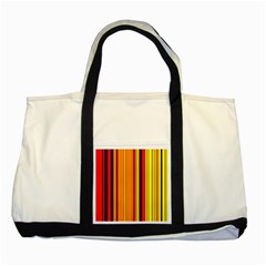 Hot Stripes Fire Two Tone Tote Bag