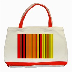 Hot Stripes Fire Classic Tote Bag (red)