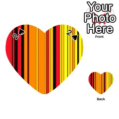Hot Stripes Fire Playing Cards 54 (Heart)