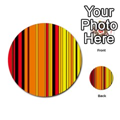 Hot Stripes Fire Multi-purpose Cards (Round)