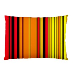 Hot Stripes Fire Pillow Cases