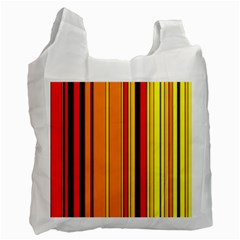 Hot Stripes Fire Recycle Bag (one Side)