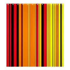 Hot Stripes Fire Shower Curtain 66  x 72  (Large)