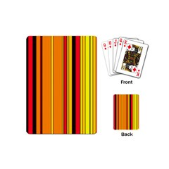 Hot Stripes Fire Playing Cards (mini)