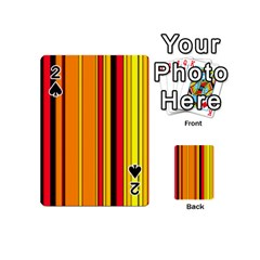 Hot Stripes Fire Playing Cards 54 (Mini)