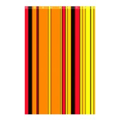 Hot Stripes Fire Shower Curtain 48  x 72  (Small)