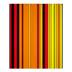 Hot Stripes Fire Shower Curtain 60  x 72  (Medium)