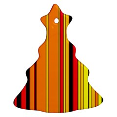 Hot Stripes Fire Christmas Tree Ornament (2 Sides)