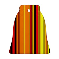 Hot Stripes Fire Bell Ornament (2 Sides)