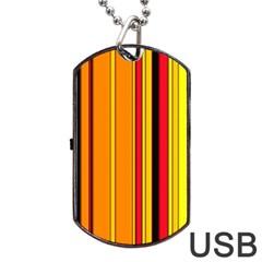 Hot Stripes Fire Dog Tag USB Flash (One Side)