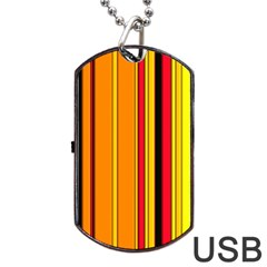 Hot Stripes Fire Dog Tag USB Flash (Two Sides)