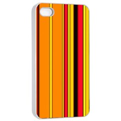 Hot Stripes Fire Apple iPhone 4/4s Seamless Case (White)